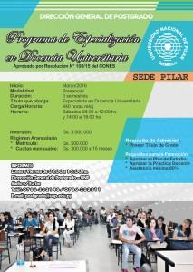 Afiche Docencia Universitaria 2016