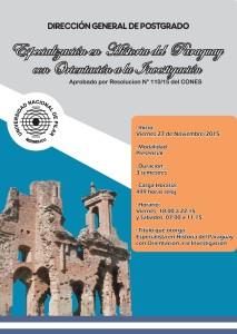 Afiche Especialización en Historia del Paraguay